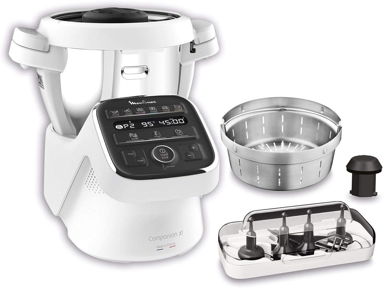 Moulinex Hf80cb Companion Xl Robot Da Cucina Multifunzione 12 Programmi Automatici 6 Accessori Dedicati Capacita Di 3l 1500 W Bianco Nero Amazon It Casa E Cucina