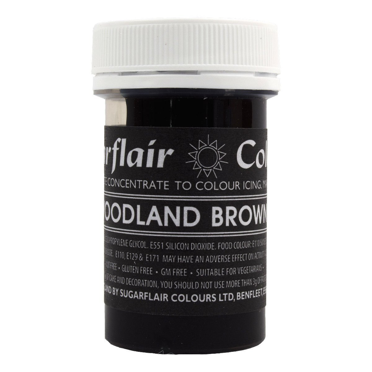 50 x Sugarflair WOODLAND BROWN Pastel Edible Food Cake Icing Colour Paste 25g
