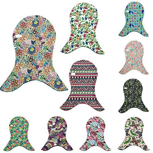 Bluelans Multicolor Facekini Head Mask UV Guard Sun Protection Swimming Beach Face Kini