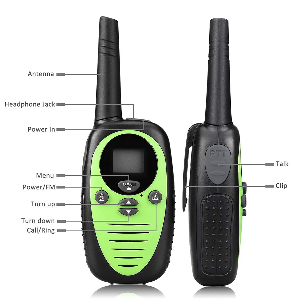 DJG Rechargeable Remote Two-Way Radio Walkie-Talkie Handheld 0.5w Children's Toy Walkie-Talkie (2 Packs) by DJG (Image #4)