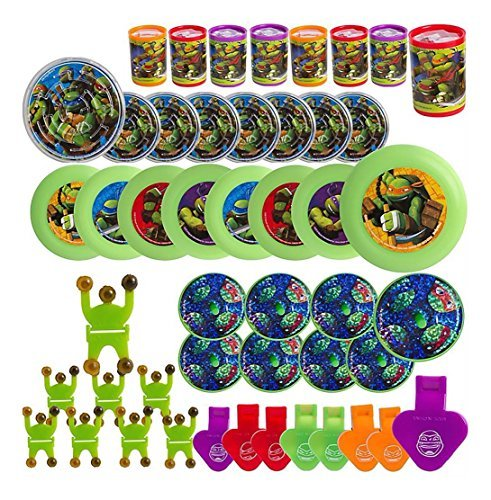 48pc Teenage Mutant Ninja Turtles Favor Value Pack Birthday Party Supplies Decor -