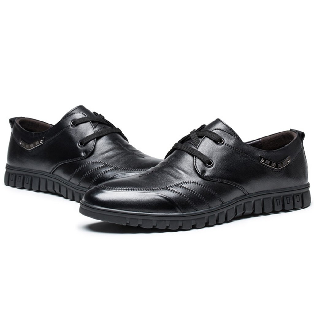 [Asagao]カジュアルシューズ メンズ  男 紳士 ビジネスシューズ 革靴 スキッドシューズ ローカット靴 レースアップ フラット 通勤通学 旅行出張 軽量 履き心地よい 小さい/大きいサイズ カーキ ブラック B01IDDR77O 25.0 cm カーキ
