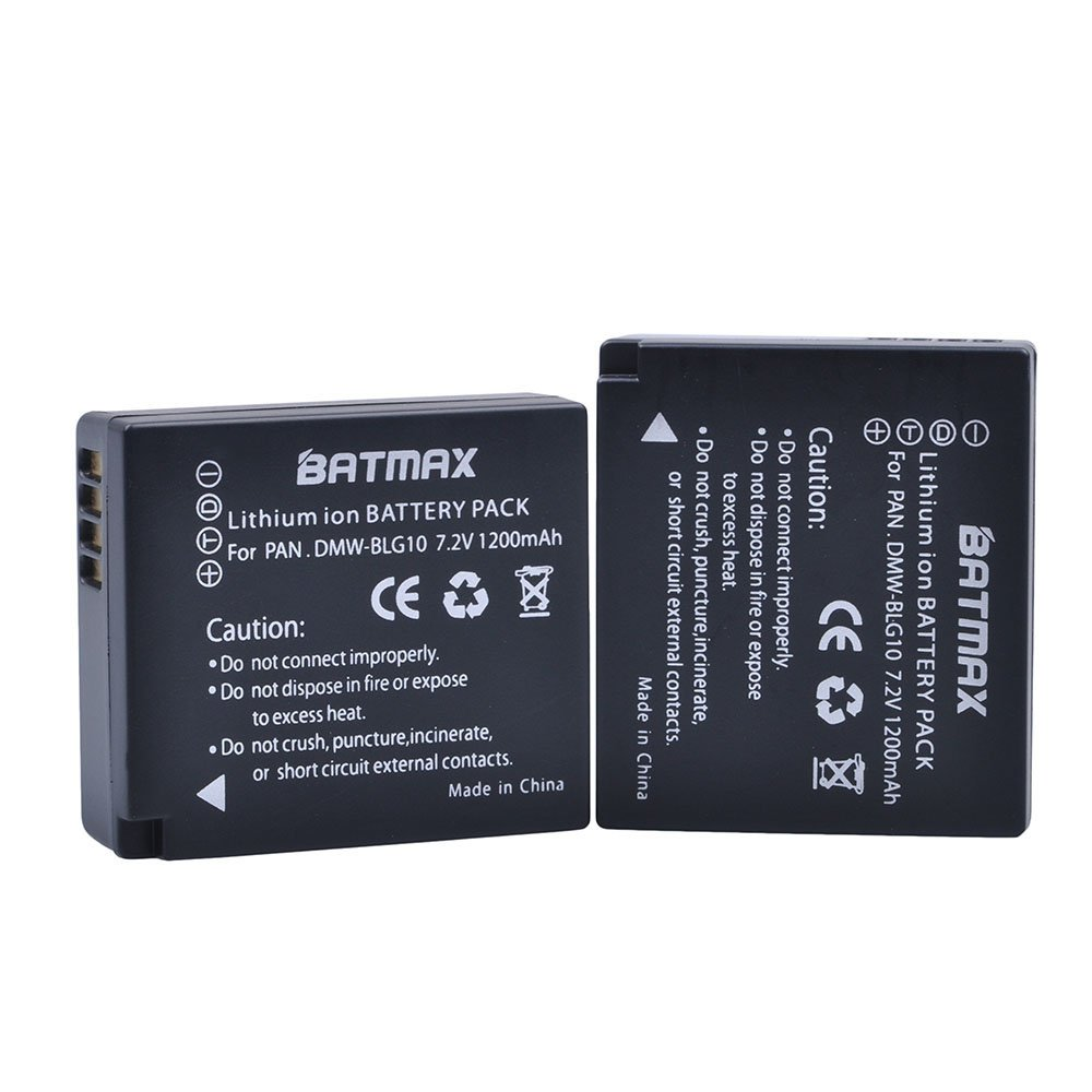 Batmax 2Pcs 1200mAh DMW-BLG10 BLG10 BP-DC15 Battery + LCD USB Charger for Panasonic DMW-BLE9, DMW-BLG10;Lumix DMC-ZS60, DMC-ZS100, DMC-GX7, DMC-LX100, DMC-GF3, DMC-GF5, DMC-GF6, DMC-GX85 by Batmax (Image #3)