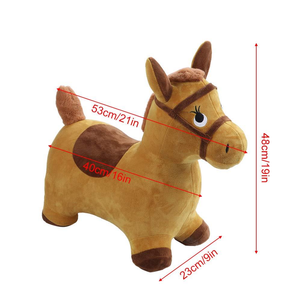 Amazon.com: JAWM - Peluche hinchable para caballo de saltar ...