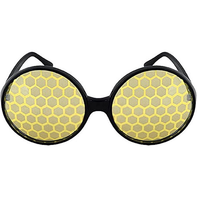 62c126e64d Amazon.com  Bug Costume Glasses Yellow For Adults Men and Women by elope   Toys   Games