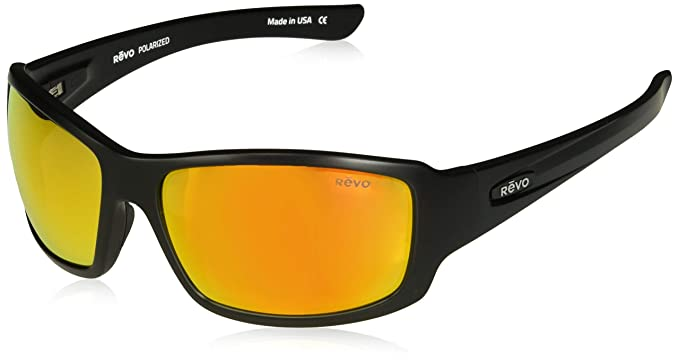a0e2c4bd591 Image Unavailable. Image not available for. Colour  Revo Eyewear Sunglasses  Bearing Matte Black Polarized ...