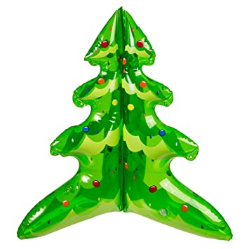 50cm inflatable christmas tree xmas decoration gift secret santa stockign filler desktop office home