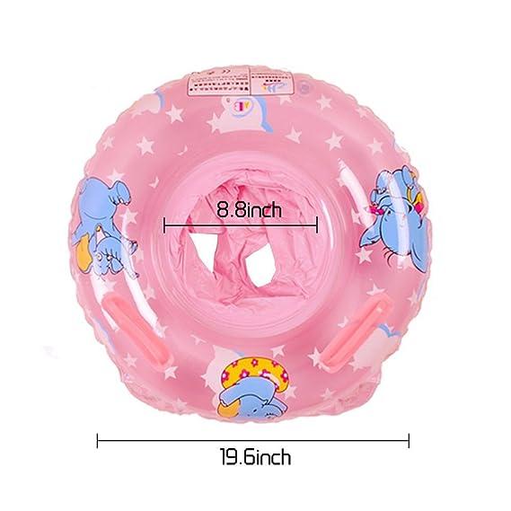 UClever Flotador con Manija para Bebé 6-36 mes Elefante (Rosa): Amazon.es: Juguetes y juegos