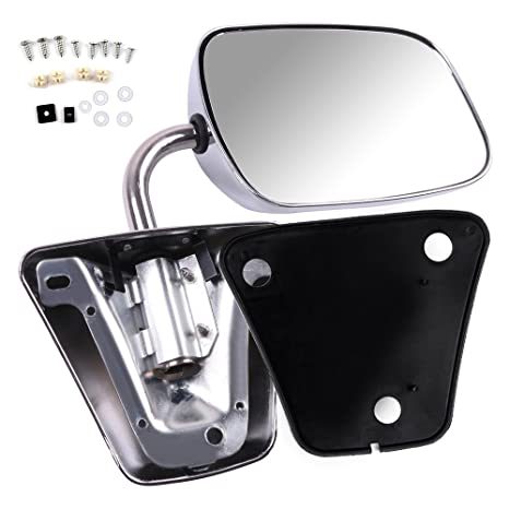 Chrome 1PC Manual Adjust Side Mirror for 73-96 Chevy CK Pickup//Blazer L or R