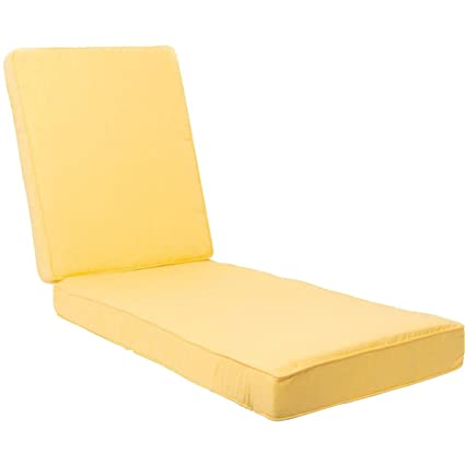 Superbe Ultimatepatio.com Extra Long Replacement Outdoor Chaise Lounge Cushion With  Piping   Canvas Buttercup