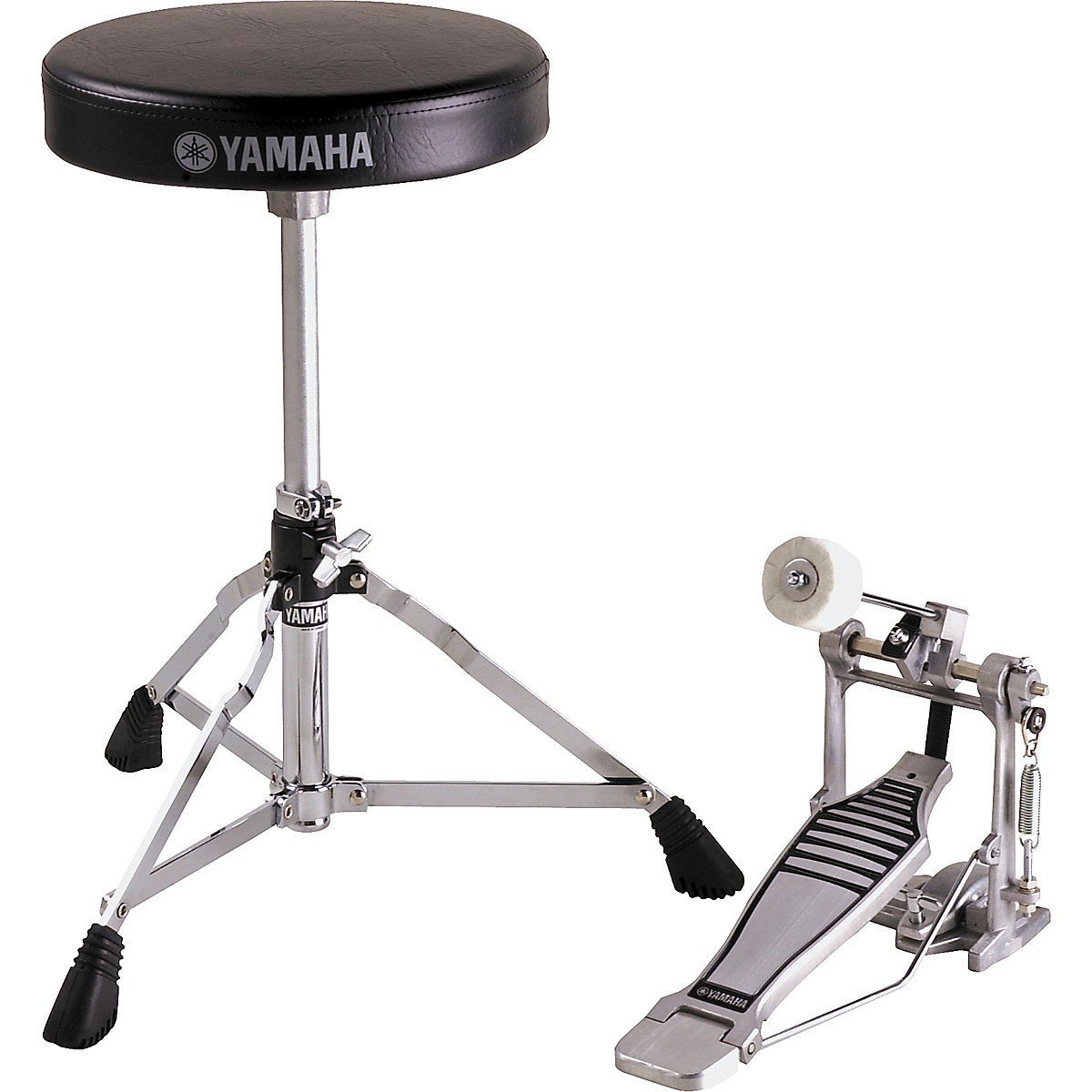 Yamaha FP-6110A and DS-550; Foot Pedal and Drum Throne PKG by YAMAHA