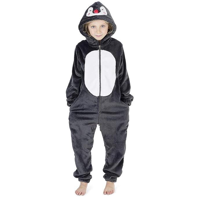 353394f3940 Pijamas de un Pieza Niño Niña Unicornio Conejo Koala Perro Gato Dinosaurio  Pingüino Pijama Niños Niñas 2-14 Años  Amazon.es  Ropa y accesorios