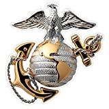 marine corps auto decal - USMC Emblem (M62) Marine Corp Decal Sticker Car/Truck Laptop/Netbook Window