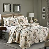 Best Comforter Sets, Flying Birds Printing 3 Piece Cotton Bedspread/Quilt Sets, Queen