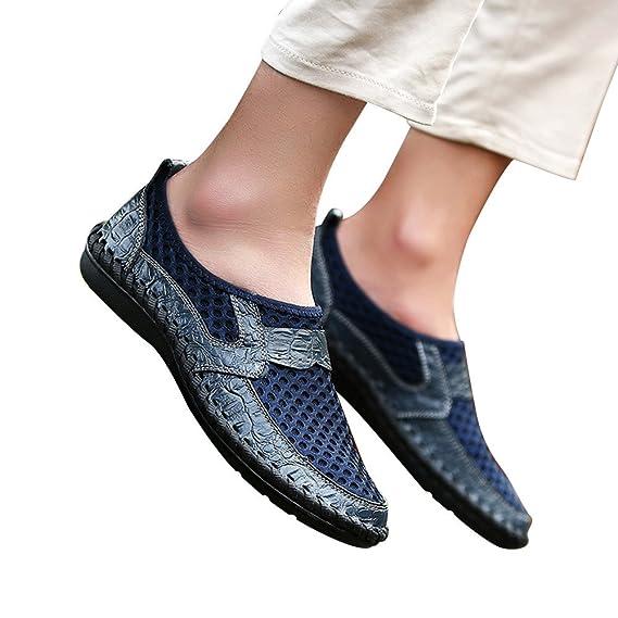 a7162dbb41c8ff Beikoard-scarpa Casual Sportive Traspiranti da Uomo Scarpe ondeggianti con  Pedali in Mesh Scarpe con Piselli: Amazon.it: Abbigliamento