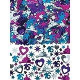 Amscan 361466 Elegant Sweet Sixteen Celebration Mega Value Pack Confetti Birthday Multi Color, 2.5 oz, 1 ct
