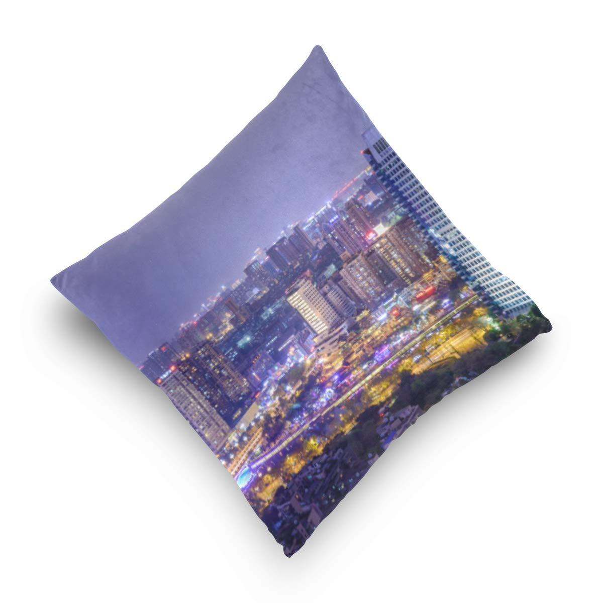 Amazon.com: Pillow Case Cover Cushion Cover City Night View ...