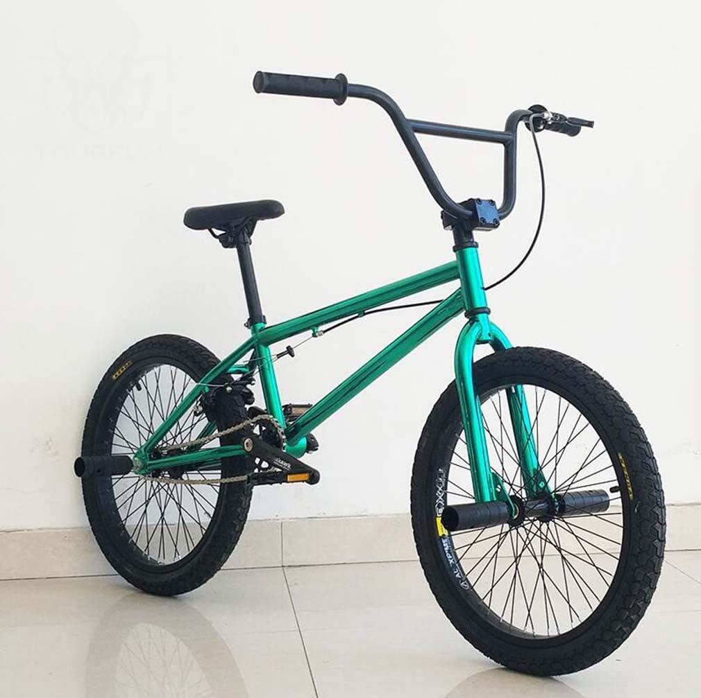 SWORDlimit Bicicleta BMX Freestyle Ciclistas Principiantes y avanzados, Cuadro de Acero con Alto Contenido de Carbono, Engranaje BMX 25x9T, Frenos Traseros en Forma de U y Ruedas de 20 Pulgadas,A: Amazon.es: Deportes
