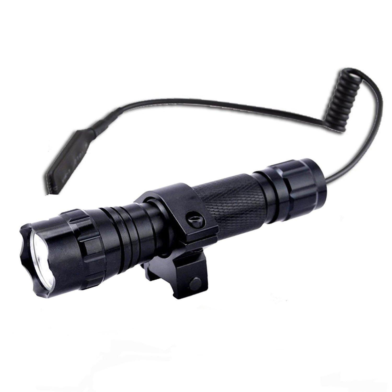 BESTSUN Single 1-Mode CREE Xm-L2 LED Flashlight (1200LM,Black) Tactical Waterproof LED Flashlight Ultra Bright Handheld Flashlight Set
