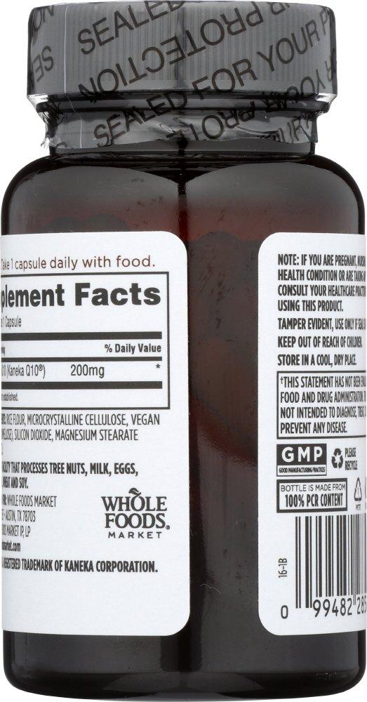 Amazon.com: Whole Foods Market, CoQ10 200mg - Vegetarian, 60 ct: Health & Personal Care
