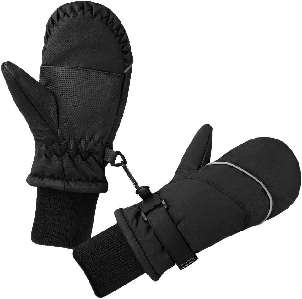 Terra Hiker Kid's Ski Mittens, Water-Resistant and Windproof Gloves, Breathable Ripstop Fabric for Boys, Girls in Cold Weather, Suitable for Children Aged 2-6 : Clothing