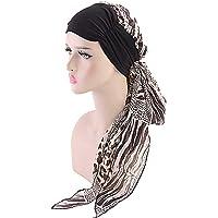 Kirmoo Chemo Headwear Turbans for Women Long Hair Head Scarf Headwraps Cancer Hats