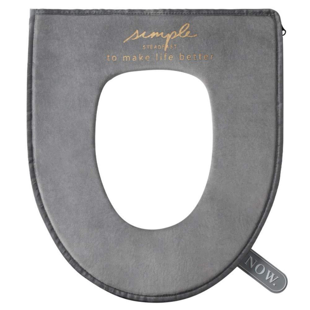 Savlot Coprisedile per WC Coperchi per Cerniera Cuscino per Sedile WC Lavabile Caldo Invernale