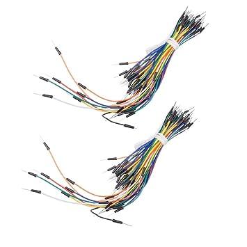 Muzoct 130pcs Sin Soldadura Flexible Breadboard Jumper Cables para Arduino Placa de Pruebas: Amazon.es: Electrónica