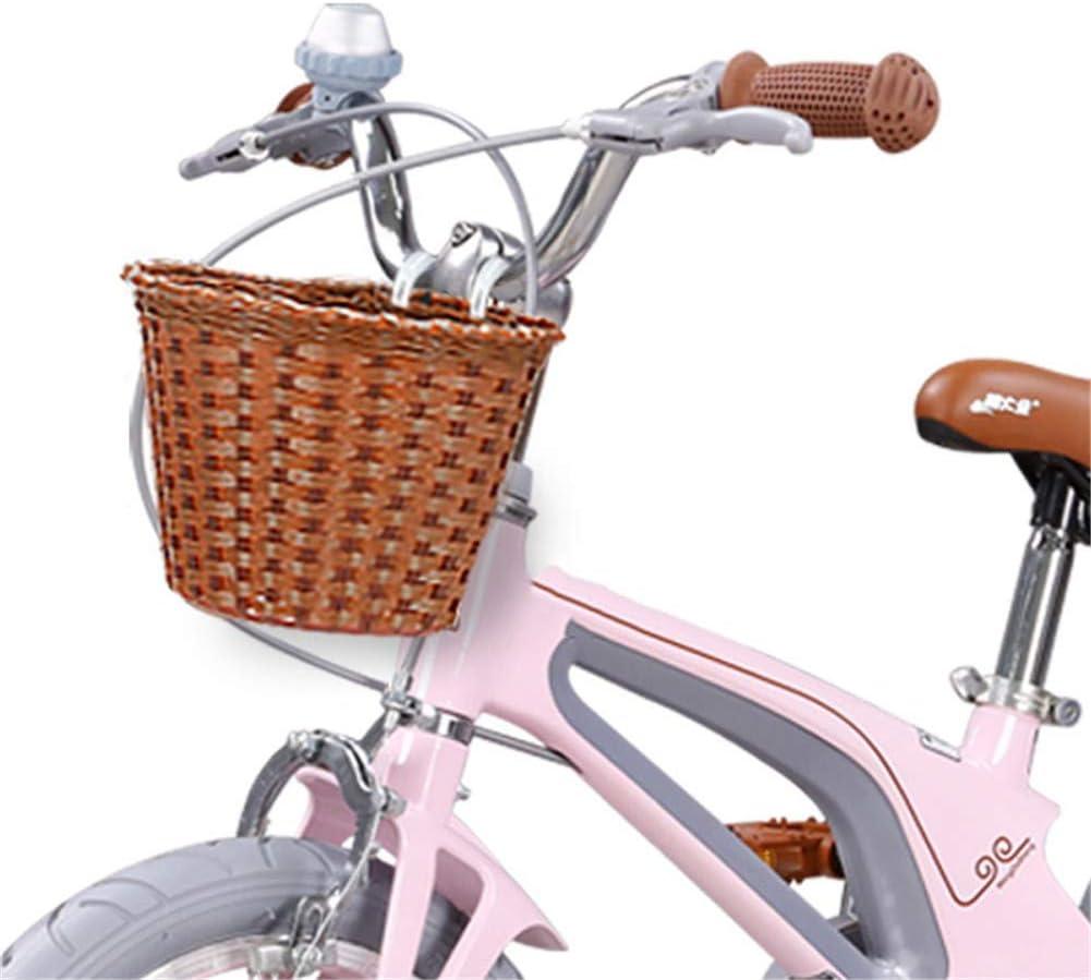 QINAIDI Cesta Delantera de Bicicleta para niños, con Correas ...