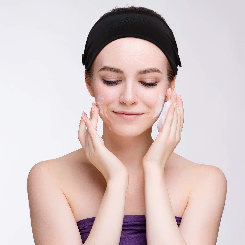 /Ärzte und Ohren Schutz Schwarz 3 St/ück Knopf Stirnband Unisex Elastische Haarband mit Knopf Gesicht Schutzh/ülle Halter f/ür Krankenschwestern
