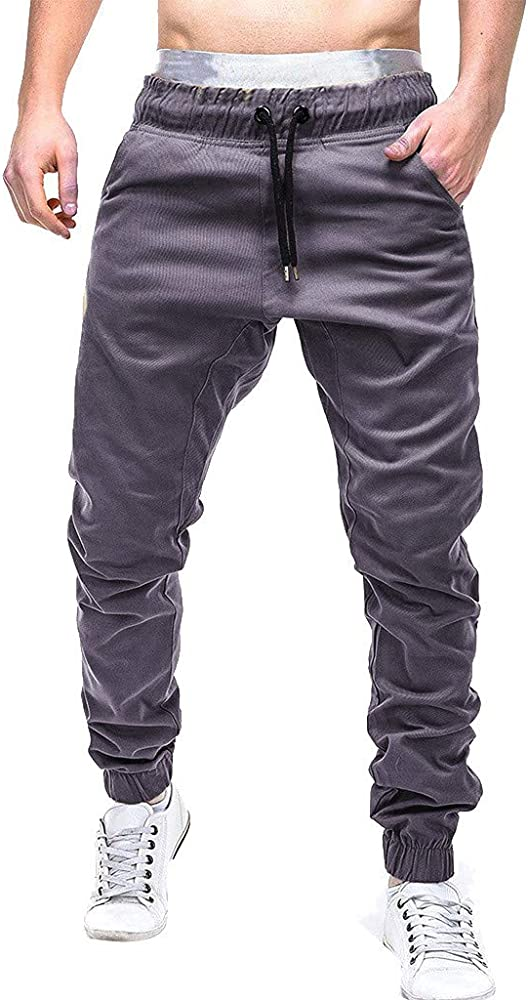 Men Sports Sweat Pants Long Trousers Jogging Tracksuit Fitness Stretch Trousers