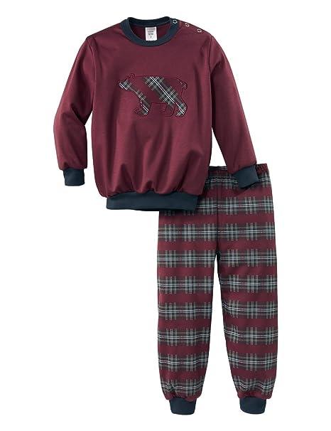 Calida Family Time KLEINKINDER Pyjama mit Bündchen, Conjuntos de Pijama para Niños, Rojo (English Red 169), 116 cm: Amazon.es: Ropa y accesorios