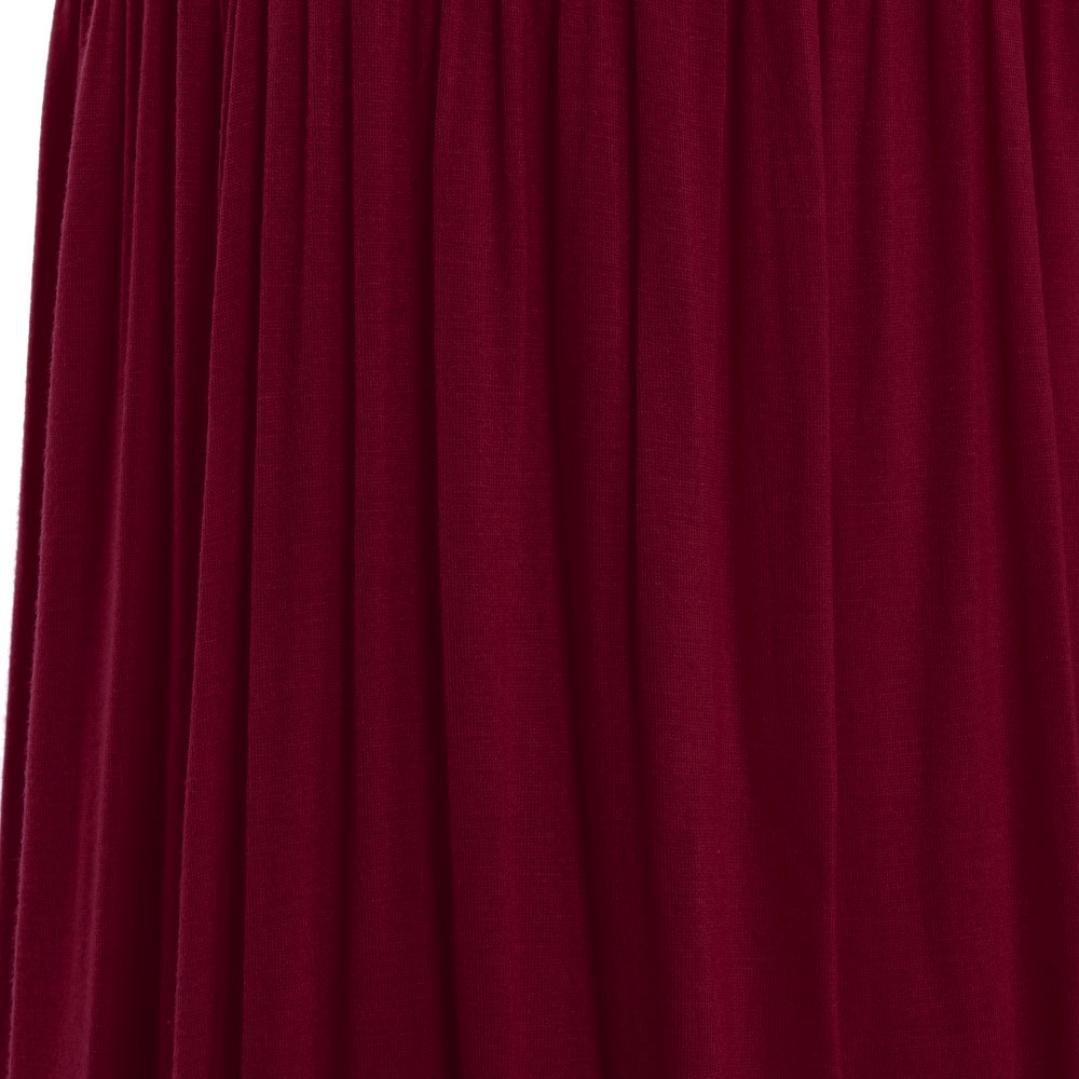 BYSTE Vestito da maternit/à Photography,Gonna delle Donne Incinte Senza Spalline Manica Foglia di Loto Trailing Vestito Abito Lunga Eleganti