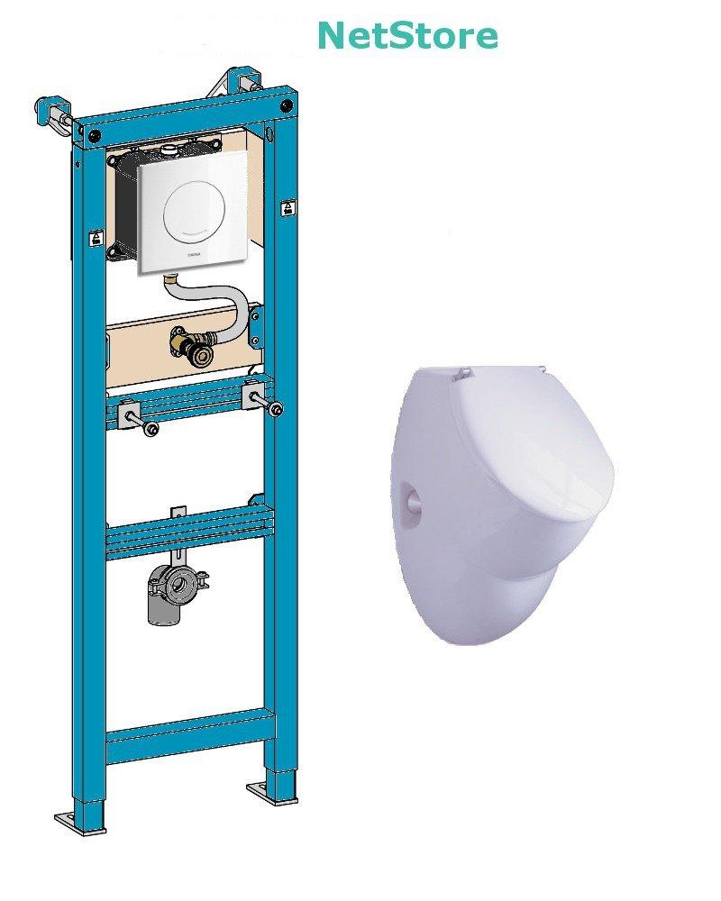 Neu WISA Urinal Vorwandelement Excellent XS und Urinal Keramik Ceravid  IV96
