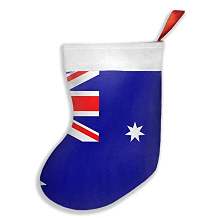 FQWEDY Australia Flag Fashion Unique Christmas Stockings Personalized Gift Socks  Christmas Socks For Parties
