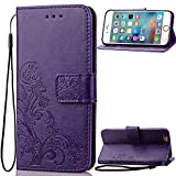 7 Plus Case,Phone Cases 7 Plus, iPhone 7 Plus Cases, 7 Plus Wallet Case, Kasedd Premium PU Leather Wallet Case with [Kickstand] Card Holder and ID Slot for iPhone 7 Plus,Purple