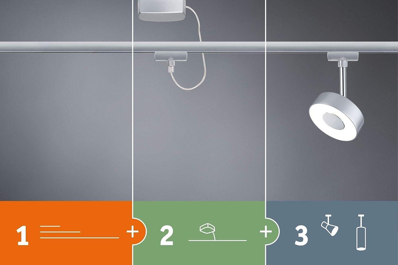 Plastic Ceiling Rail GU10 4x10 watts Light matt Chrome lamp Metal Paulmann 96897 URail System Cover Set max