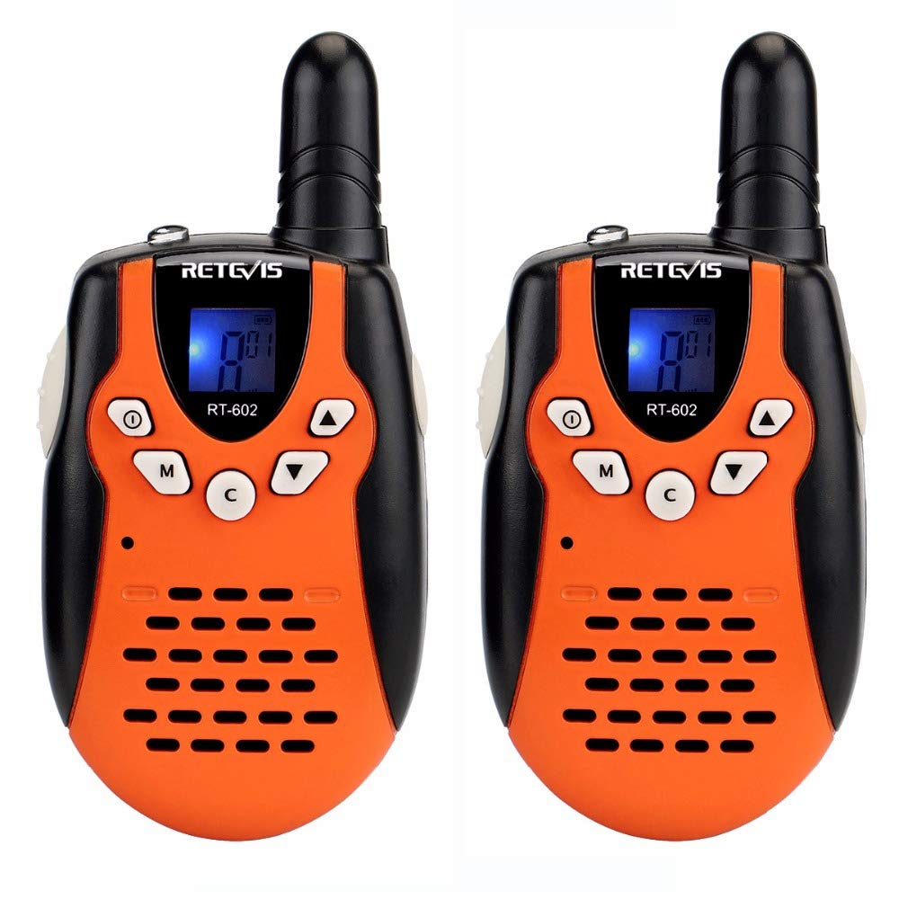 HUAXING 2pcs Children Walkie Talkie for Kids 0.5W PMR PMR446 FRS PTT VOX Flashlight Rechargable Battery 2 Way Radio by HUAXING (Image #1)