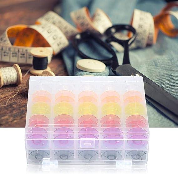 Jeffergarden Bobinas Caja de plástico de Dos Pisos Color Caja de ...