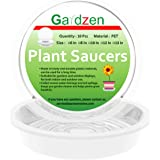 Gardzen Heavy Duty Clear Plastic Plant Saucers, Flower Pot Tray - Excellent for Indoor & Outdoor Plants (10-Inch, 10…