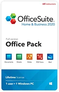 OfficeSuite Home & Business 2020 – full license – Compatible with Microsoft® Office Word®, Excel® & PowerPoint® and Adobe® PDF for PC Windows 10, 8.1, 8, 7 (1PC/1User)