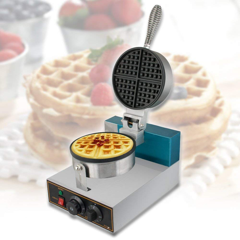 Vinmax Waffle Maker,Professional Rotated Nonstick Electric Egg Cake Oven Puff Bread Maker (Shipping from US), 110V