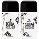 Alaffia - Coconut Reishi - Activated Charcoal Deodorant, 2 Ounces (2-Pack)