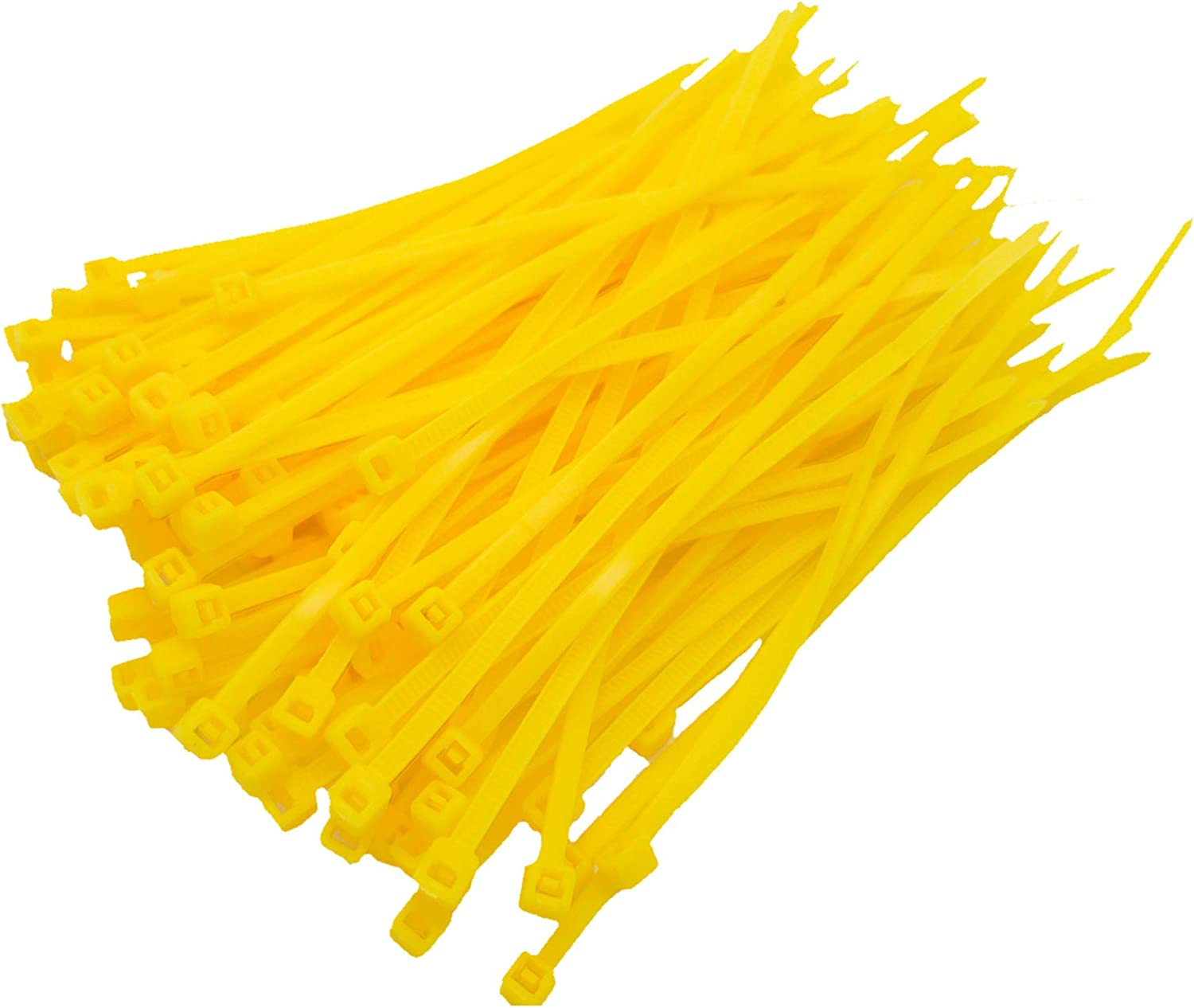 Very Strong 100 Pack of Yellow Cable Ties 100mm x 2.5mm High Quality Nylon Zip Ties Kratos Supplies UK Supplier