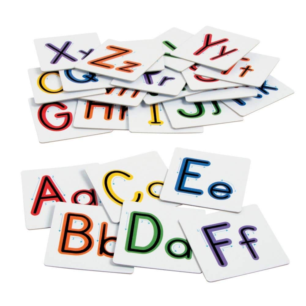 26 Sensory Alphabet Letters Lowercase & Uppercase Textured Touch and Trace Montessori Materials Preschool Toys FX