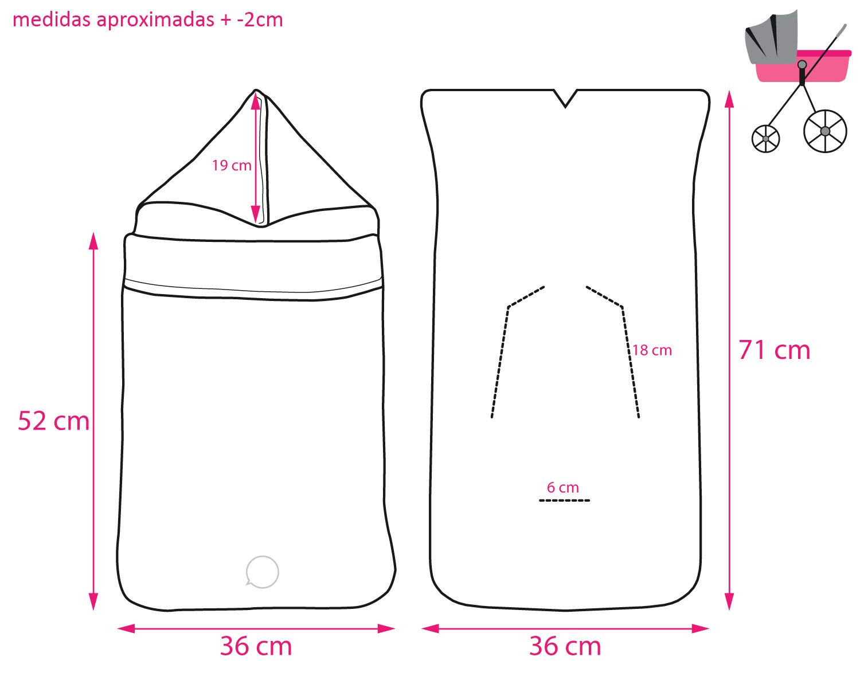 Saco PRIMAVERA//VERANO ENTRETIEMPO para GRUPO 0 Impermeable modelo 96