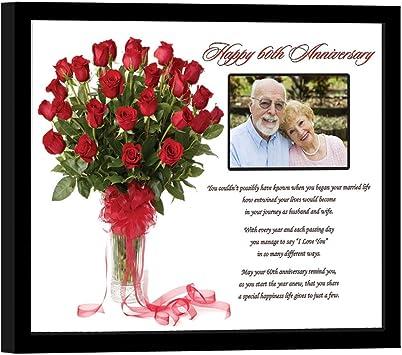 Happy 60e Anniversaire Cadeau De Poésie 60 Ans De Mariage