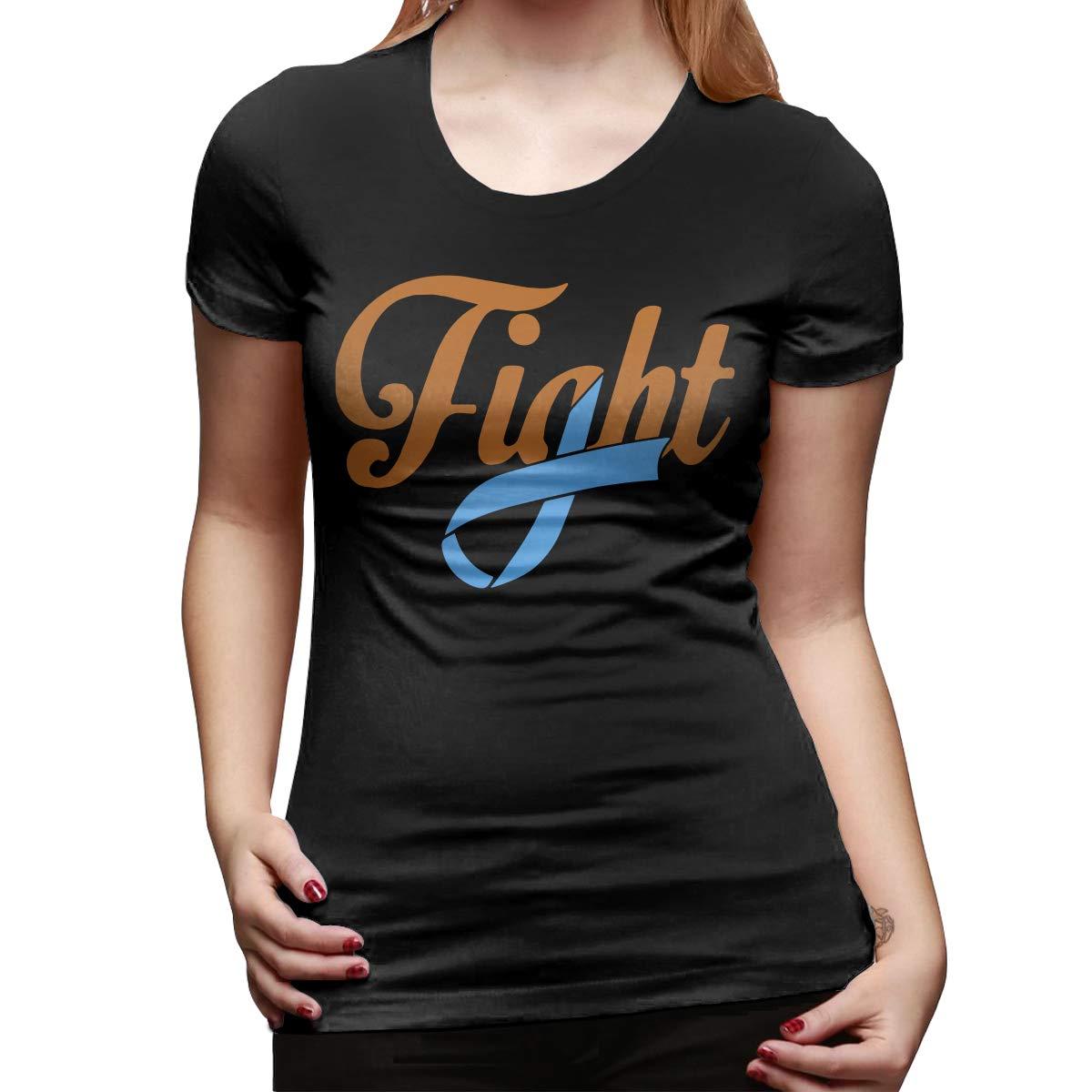 DFGHJZH-L Fight Dysautonomia Cancer Awareness Womens Fashion Short Sleeve T Shirt