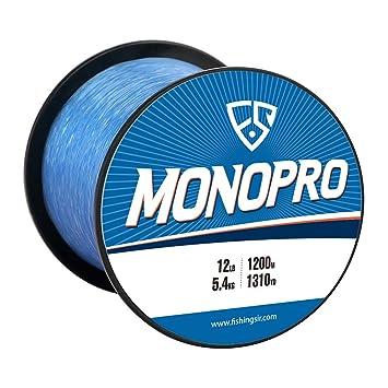 FISHINGSIR MonoPro Monofilament Fishing Line - Premium Mono Nylon Lines -  Superior Strong and 30% Higher Abrasion Resistance, 175-3280Yds, 4LB-130LB