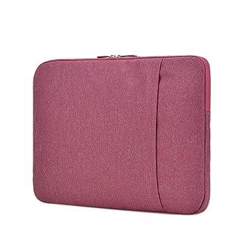 LEEQ Funda Unisex para Ordenador portátil, 1 Unidad, Funda Tipo Cartera para Tableta, Color Rosa Rojo(Rosa Rojo ): Amazon.es: Hogar